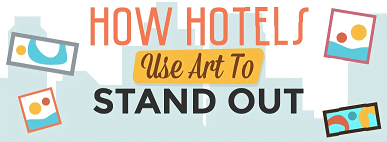 info-graphic of hotel's arts