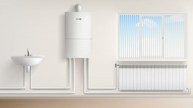 boiler and radiators