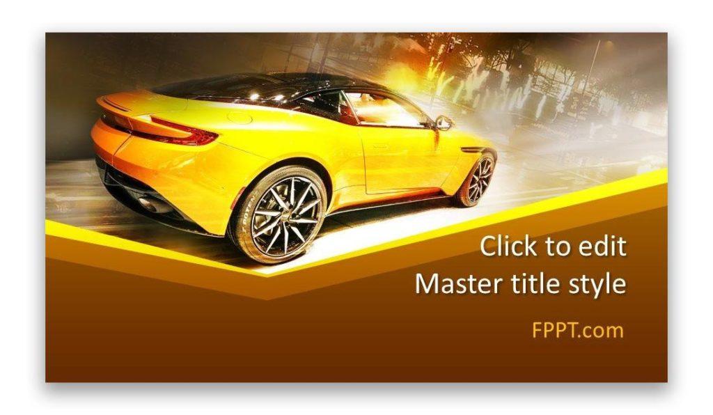 Sport Car PowerPoint template