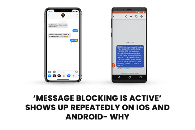 'Message Blocking Is Active' Shows Up Repeatedly On IOS And Android- Why